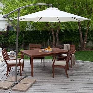 3m Perfect Oasis Garden Umbrella Cantilever Outdoor Shade ...
