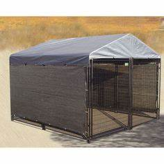 Dog kennel designs on pinterest dog kennels dog runs for Costco dog house