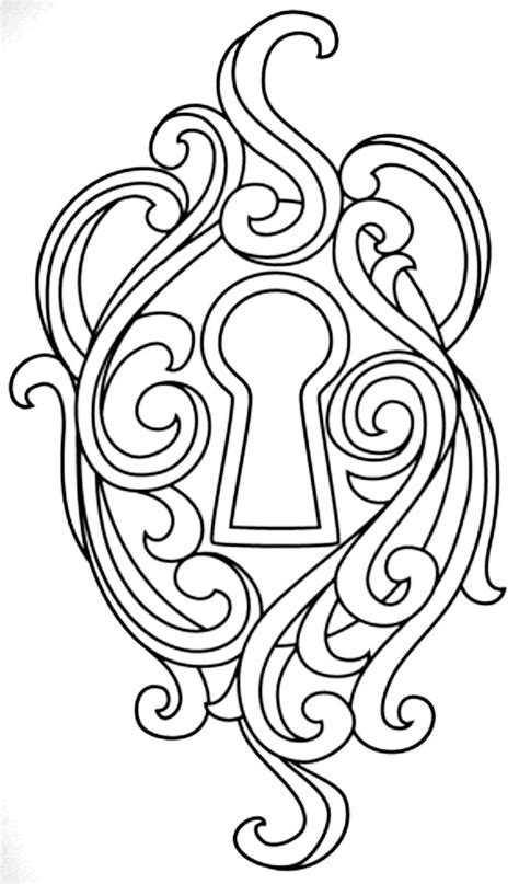 Key lock   Coloring pages, Embroidery, Stencils