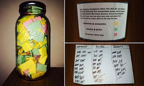 Boyfriend Fills Jar With  Love Notes For Hisfriend