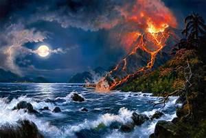 HD Volcano Wallpaper 1920x1080p