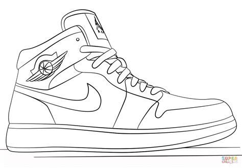 Coloring Jordans by Nike Sneakers Coloring Page Free Printable