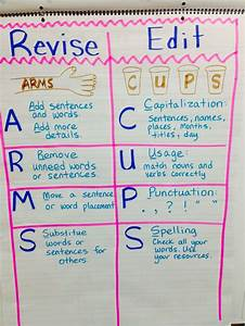 Revise And Edit Anchor Chart Arms And Cups Anchor Charts
