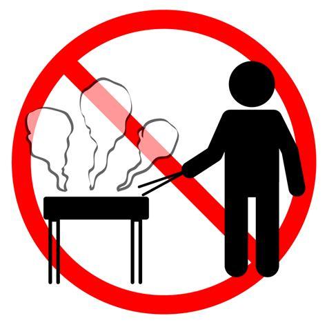 バーベキュー禁止|貼り紙|禁止行為|無料イラスト|注意