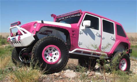 jeep wrangler custom pink 2015 jeep wrangler rubicon pink white custom bad boy