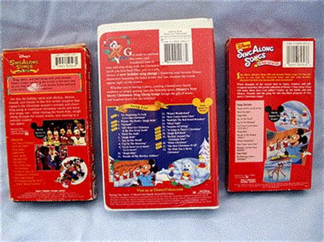 lot of 3 vhs disney mickey mouse sing