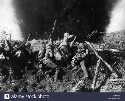 German Soldiers During The Trench Warfare As Shown In The