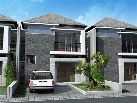 contoh desain rumah minimalis type  dua lantai model