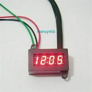 Waterproof 12v Red Led Digital Electric Clock 12 Hour For