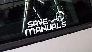 Save The Manuals Vinyl Car Window Decal Sticker Hot Rat