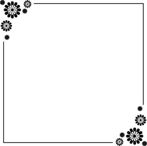 design a border simple flower border designs for a4 paper cliparts co
