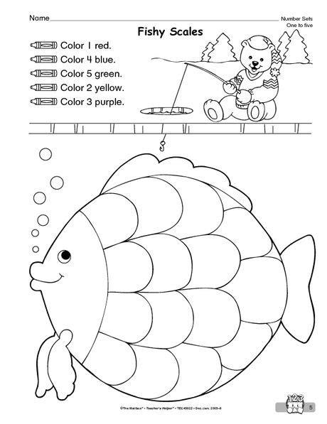 good math page for rainbow fish rainbow fish fichas