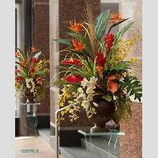 Exotic Decorating With Tropical Paradise Silk Arrangement