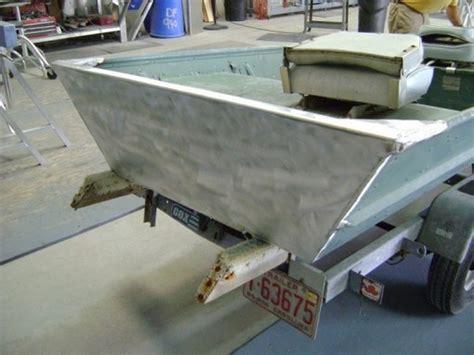Aluminum Bass Boat Rebuild by Aluminum Jon Boat Transom Rebuild High Speed