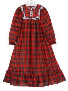 Little Girls Red Christmas Plaid Nightgown
