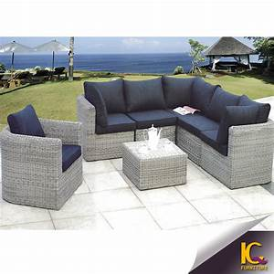 modern cheap comfortable wicker patio rattan sofa With used outdoor sectional sofa