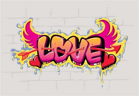Graffiti Que Diga Love : Love Graffiti Design Stock Vector. Illustration Of Street