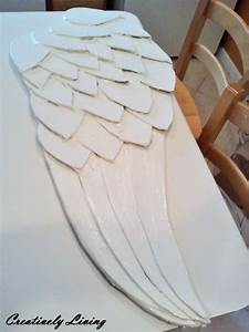 Beautiful large angel wingsa diy tutorial for festive for What kind of paint to use on kitchen cabinets for large angel wings wall art