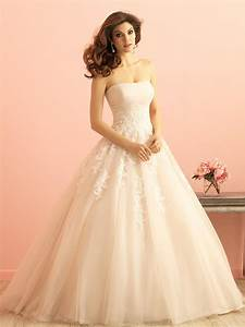 Ivory lace applique tulle ruched strapless princess ball for Wedding dresses ivory