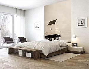 Tete De Lit Cabane : un papier peint en guise de t te de lit blog izoa ~ Melissatoandfro.com Idées de Décoration