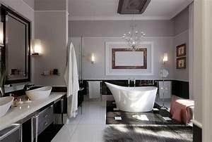 decorer la salle de bains avec un evier ceramique With salle de bain design avec porcelaine blanche à décorer