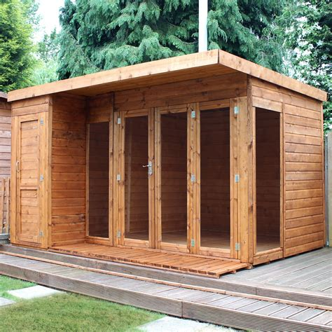 b q garden sheds for sale uk 12x8 combi garden room shiplap timber summerhouse store