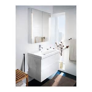 storjorm mirror cabinet w 2 doors light white