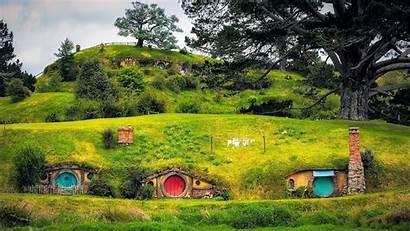 Hobbiton Zealand Wallpapers Hobbit Matamata Village Shire