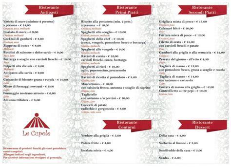 Le Cupole Borore by Ristorante Pizzeria Le Cupole Borore Offerta Menu