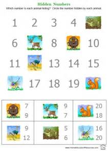Free Printable Number Worksheets for Preschool