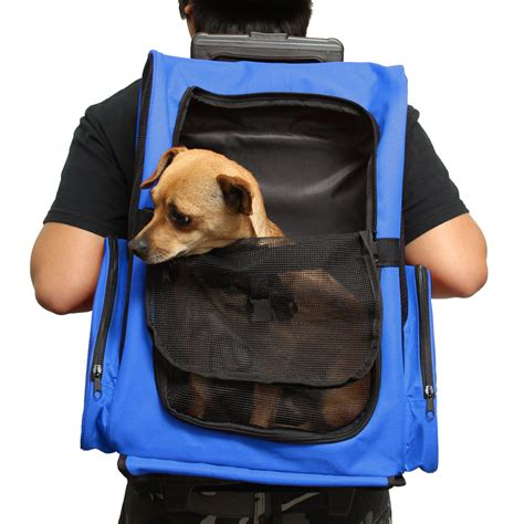 rolling backpack pet carrier  dogs  cats tanga