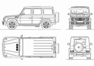 Mercedes Benz G Class CAD Blocks free dwg file Cars