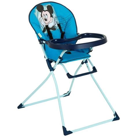chaise haute mickey disney chaise haute mac baby mickey bleu achat vente