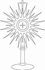 Monstrance Catholic Coloring Pages Clipart Clip Google Communion Symbols Cross Jesus Miraculous Fatima Lady Eucharist Corpus Holy Line Printable Christi sketch template