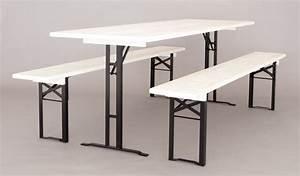 Weißer Tisch Mit Holzplatte : bierzeltgarnituren mit wei er lasur und schwarzem stahl ~ Bigdaddyawards.com Haus und Dekorationen