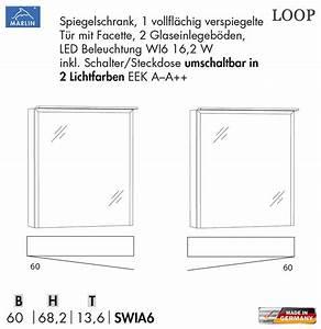 Spiegelschrank 60 Cm Led : marlin loop spiegelschrank 60 cm mit 2 lichtfarben swia6 farbtemperatur wechsel impuls home ~ Bigdaddyawards.com Haus und Dekorationen