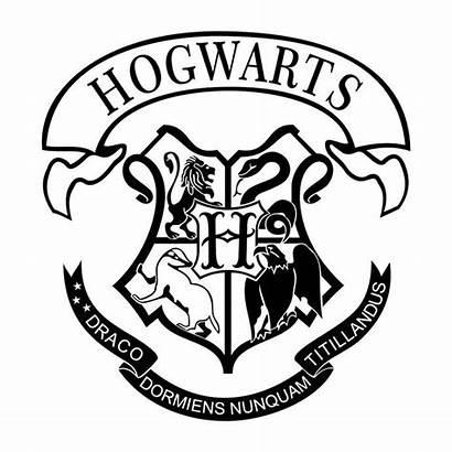 Potter Harry Svg Hogwarts Crest Silhouette Drawings