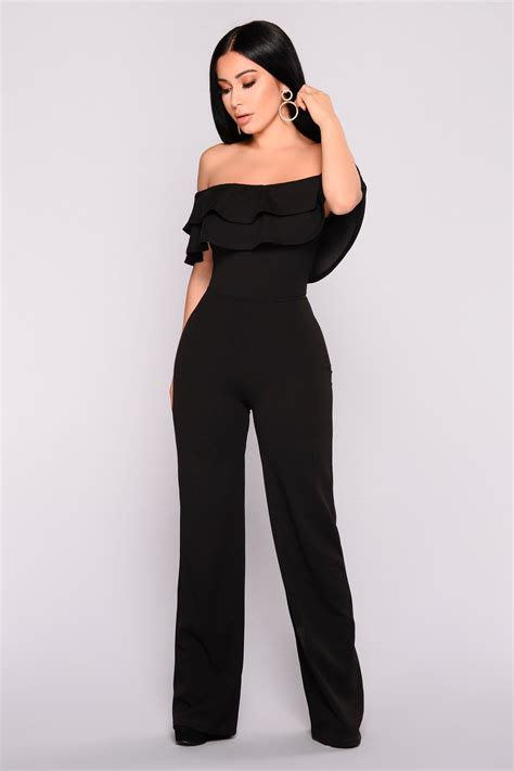 ready jumpsuit ready to ruffle jumpsuit black