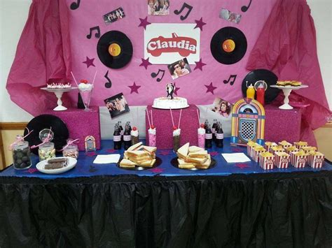 grease birthday party ideas rock   clock
