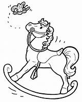 Rocking Coloring Pages Horse Chair Printable Getcolorings sketch template