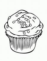 Cupcake Coloring Cake Cupcakes Printable Clipart Drawing Sprinkles Muffin Line Slice Colouring Ice Cream Birthday Cat 8dca Cliparts Cup Cakes sketch template