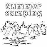 Camping Coloring Pages Printable Summer Camper Camp Sheets Rv Getcoloringpages Tent Poster sketch template