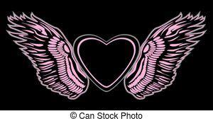 engelsflügel zum basteln fliegendes rosa vogel mit liebe bilder und stockfotos 448