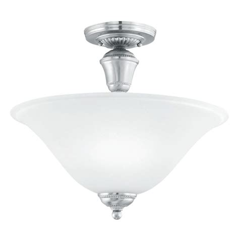 philips whitmore 2 light brushed nickel ceiling semi flush