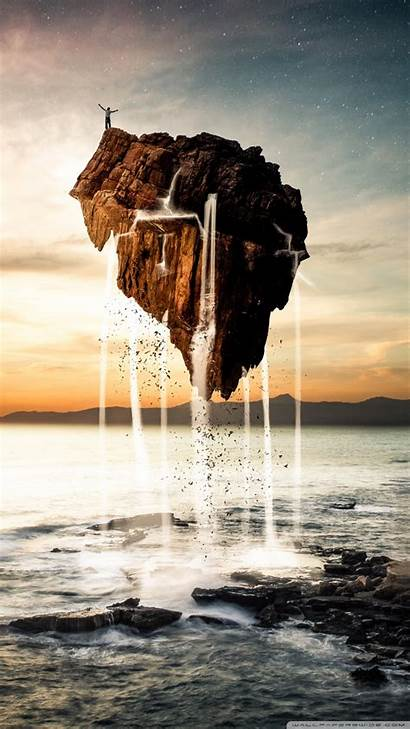 Floating Island Smartphone Wallpaperswide Background