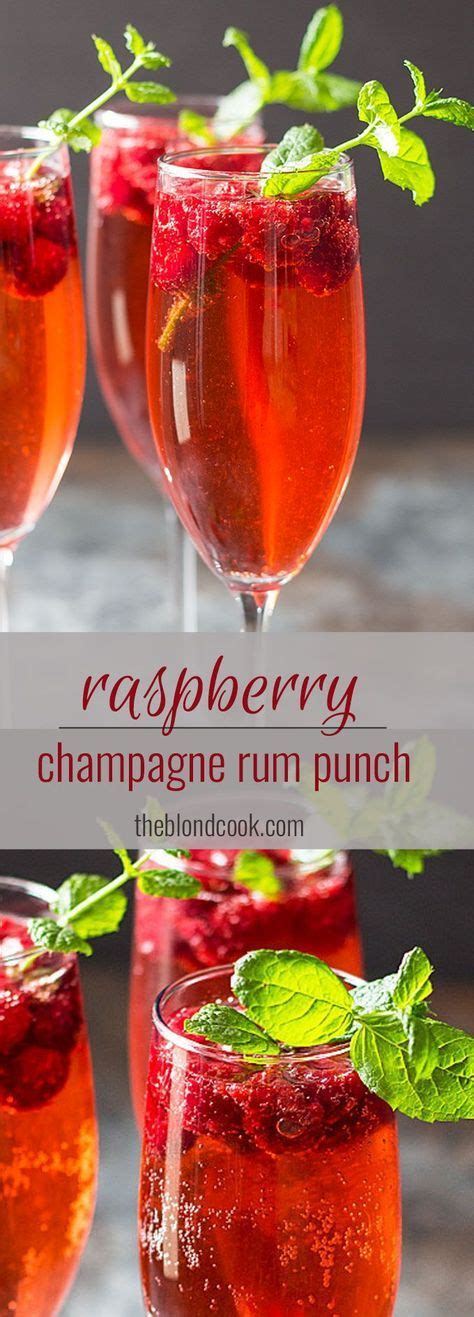 Rum is one of the better options for the liquor because it adds a sweetness that contrasts the drink's eggy flavor. Raspberry Champagne Rum Punch | Recipe | Celebrate Cocktails | Drinks, Holiday drinks, New year ...