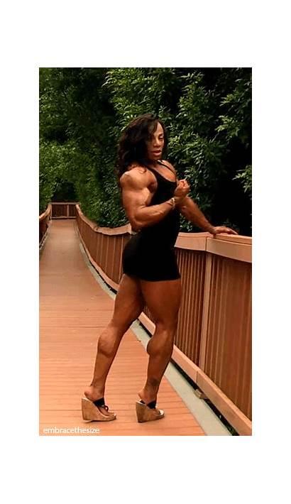 Muscle Female Woman Bodybuilder Muscular Ladies Via