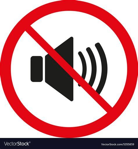 No Sound by The No Sound Icon Volume Symbol Flat Vector Image