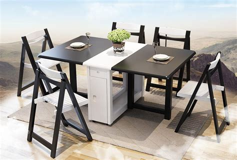 Table Dining Table Home Telescopic Folding Small Apartment