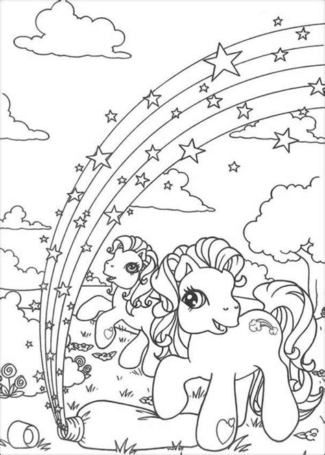 fun learn  worksheets  kid   pony  coloring pages